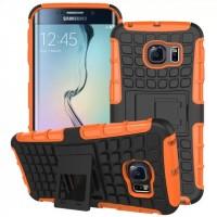 Силиконовый чехол экстрим защита для Samsung Galaxy S6 Edge Оранжевый