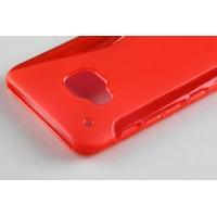 Силиконовый S чехол для HTC One M9 Красный