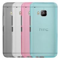 Силиконовый матовый полупрозрачный чехол для HTC One M9