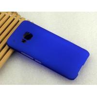 Пластиковый матовый нескользящий чехол для HTC One M9 Синий