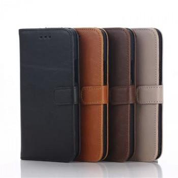 Чехол портмоне подставка винтажный с защелкой для HTC One M9