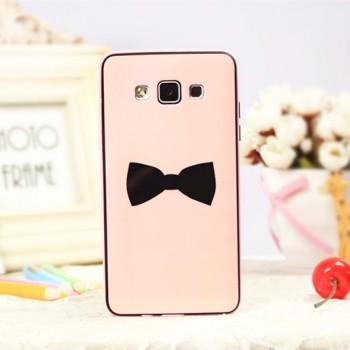 Двухкомпонентный силиконовый чехол с поликарбонатным каркасом и принтом для Samsung Galaxy A5