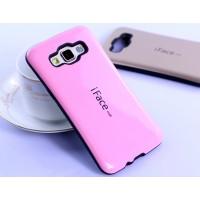 Силиконовый эргономичный непрозрачный чехол с нескользящими гранями для Samsung Galaxy A5 Розовый