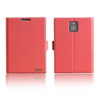 Чехол флип подставка с защелкой для Blackberry Passport Розовый