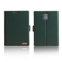 Чехол флип подставка с защелкой для Blackberry Passport Зеленый