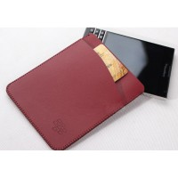 Кожаный мешок с внешним карманом для Blackberry Passport Красный