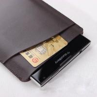 Кожаный мешок с внешним карманом для Blackberry Passport Коричневый
