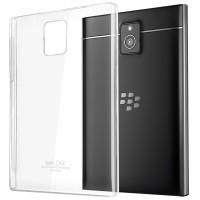 Пластиковый транспарентный чехол для Blackberry Passport Белый