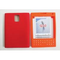 Силиконовый дизайнерский фигурный чехол с покрытием клавиатуры для Blackberry Passport Красный