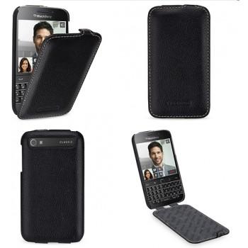 Кожаный чехол вертикальная книжка (нат. кожа) для Blackberry Classic