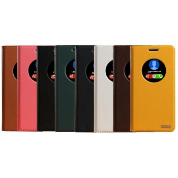 Кожаный чехол флип-подставка на плаcтиковой основе для ASUS Zenfone 5