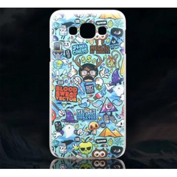 Пластиковый матовый дизайнерский чехол с УФ-принтом для Samsung Galaxy E7
