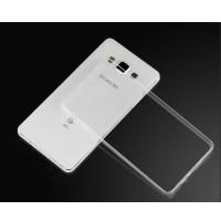 Силиконовый транспарентный чехол для Samsung Galaxy E7 Белый