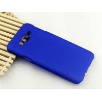 Пластиковый матовый непрозрачный чехол для Samsung Galaxy E7 Синий