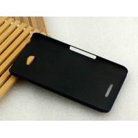 Пластиковый матовый металлик чехол для Sony Xperia E4 Черный