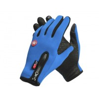 Спортивные нескользящие ветрозащитные водоотталкивающие сенсорные (двухпальцевые) перчатки размер XL  для