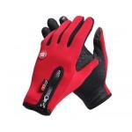 Спортивные нескользящие ветрозащитные водоотталкивающие сенсорные (двухпальцевые) перчатки размер XL