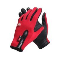 Спортивные нескользящие ветрозащитные водоотталкивающие сенсорные (двухпальцевые) перчатки размер XL  для LG Prada 3.0 (P940)