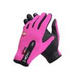 Спортивные нескользящие ветрозащитные водоотталкивающие сенсорные (двухпальцевые) перчатки размер L