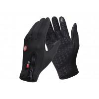 Спортивные нескользящие ветрозащитные водоотталкивающие сенсорные (двухпальцевые) перчатки размер L для Samsung Galaxy Grand (Duos, GT-I9080, GT-I9082, I9080, i9082)