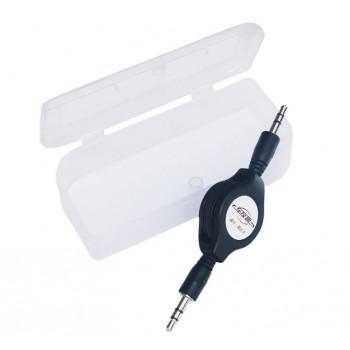 Аудиокабель AUX 3.5mm 80 см с функцией автосматывания