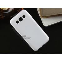 Силиконовый матовый непрозрачный чехол для Samsung Galaxy E5 Черный