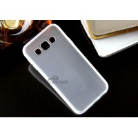 Силиконовый матовый непрозрачный чехол для Samsung Galaxy E5 Белый