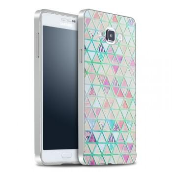 Двухкомпонентный чехол с металлическим бампером и поликарбонатной накладкой с УФ-принтом для Samsung Galaxy A7