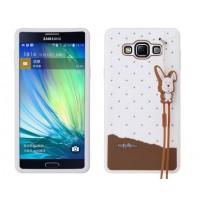 Силиконовый дизайнерский чехол с принтом и шнурком для Samsung Galaxy A7 Белый