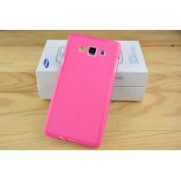 Силиконовый матовый непрозрачный чехол для Samsung Galaxy A7 Пурпурный