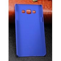 Пластиковый матовый непрозрачный чехол для Samsung Galaxy A7 Синий