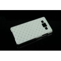 Пластиковый чехол со стразами для Samsung Galaxy A7 Белый