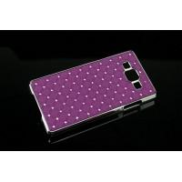 Пластиковый чехол со стразами для Samsung Galaxy A7 Фиолетовый