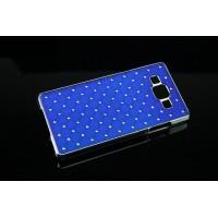 Пластиковый чехол со стразами для Samsung Galaxy A7 Синий