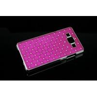 Пластиковый чехол со стразами для Samsung Galaxy A7 Пурпурный