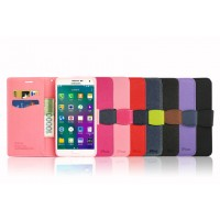Текстурный чехол портмоне подставка на силиконовой основе с защелкой для Samsung Galaxy A3