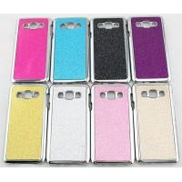 Пластиковый матовый чехол с металлическим напылением и светоотражающим слоем для Samsung Galaxy A3