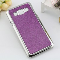 Пластиковый матовый чехол с металлическим напылением и светоотражающим слоем для Samsung Galaxy A3 Фиолетовый