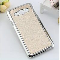 Пластиковый матовый чехол с металлическим напылением и светоотражающим слоем для Samsung Galaxy A3 Серый