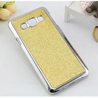 Пластиковый матовый чехол с металлическим напылением и светоотражающим слоем для Samsung Galaxy A3 Желтый