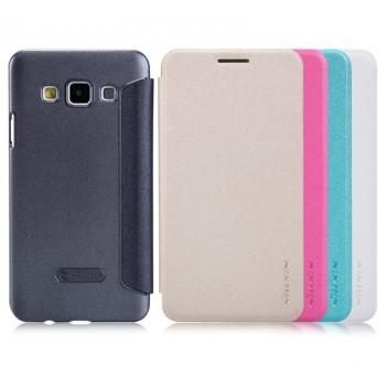 Чехол смарт флип на пластиковой нескользящей матовой основе для Samsung Galaxy A3 (a300f)