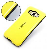 Силиконовый эргономичный чехол с нескользящими гранями для Samsung Galaxy A3 Желтый