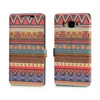 Текстурный чехол флип подставка с принтом для Samsung Galaxy A3