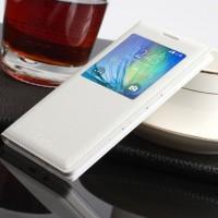 Чехол флип с окном вызова на пластиковой основе для Samsung Galaxy A3 Белый