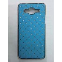 Дизайнерский пластиковый чехол со стразами для Samsung Galaxy Grand Prime Голубой