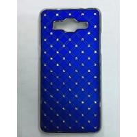 Дизайнерский пластиковый чехол со стразами для Samsung Galaxy Grand Prime Синий