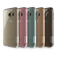 Ультратонкий силиконовый транспарентный чехол с нескользящими гранями и защитными заглушками для Samsung Galaxy S6