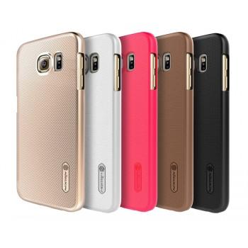 Пластиковый матовый нескользящий премиум чехол для Samsung Galaxy S6