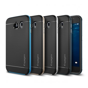 Премиум гибридный двухкомпонентный противоударный чехол силикон/поликарбонат с точечной структурой крышки для Samsung Galaxy S6