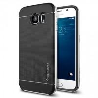 Премиум гибридный двухкомпонентный противоударный чехол силикон/поликарбонат с точечной структурой крышки для Samsung Galaxy S6 Белый
